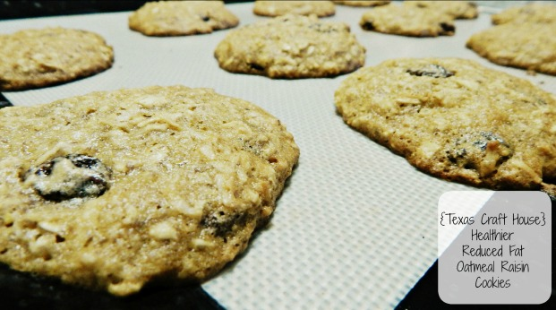 {Texas Craft House} Healthy Reduced Fat Oatmeal Raisin Cookies
