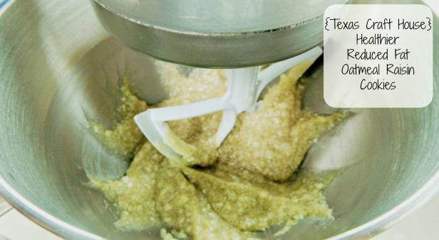 {Texas Craft House} Healthy Reduced Fat Oatmeal Raisin Cookies
