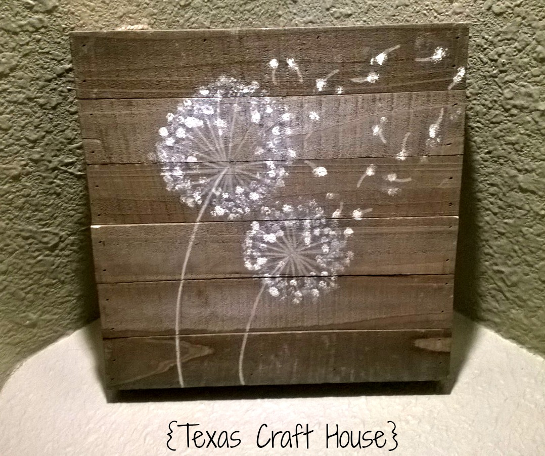 Paint for wood crafts -  Texas Craft House How To Paint A Dandelion Flower
