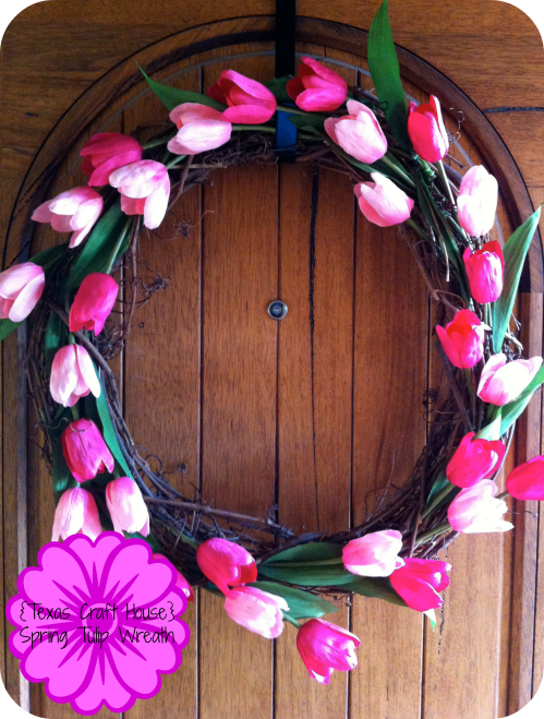 {Texas Craft House} Make Your Own Spring Tulip Wreath