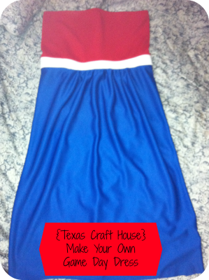 {Texas Craft House} Make Your Own Game Day Dress