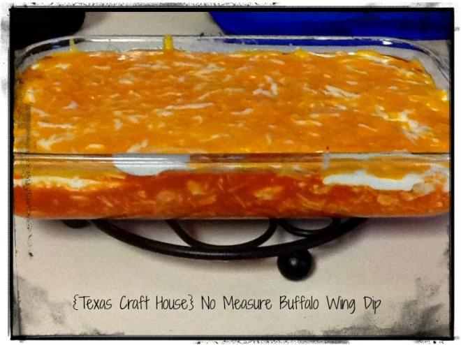 {Texas Craft House} Amazing - No Measure Buffalo Wing Dip