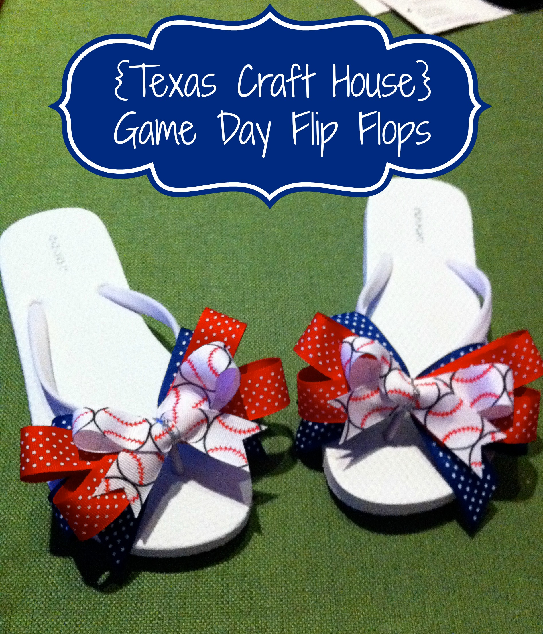 ad16317fed005  Texas Craft House  DIY Game Day Flip Flops