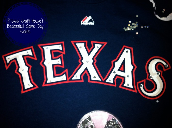 {Texas Craft House} How to bedazzle your game day shirt