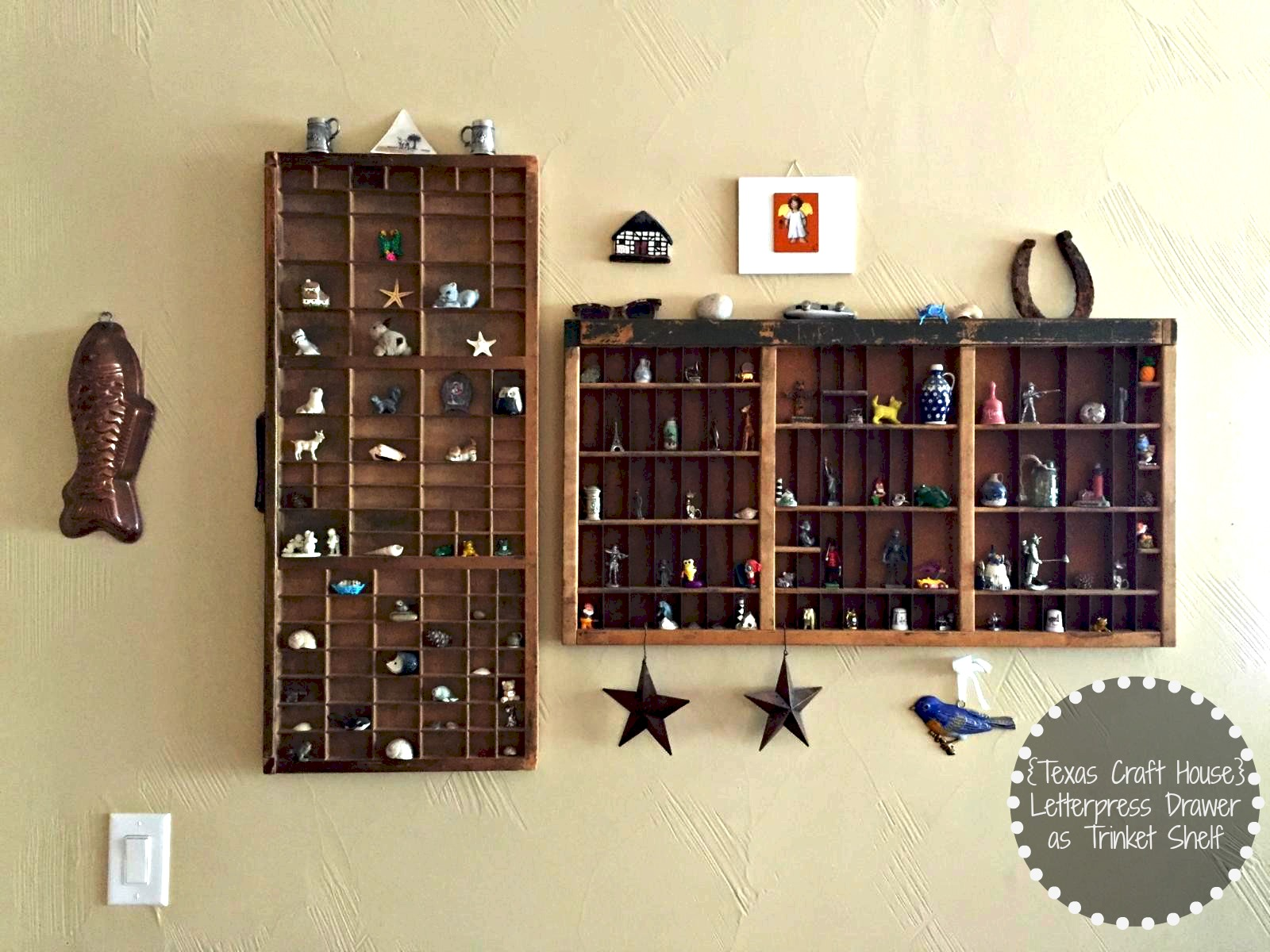 Letterpress Drawer as Trinket Shelf | Texas Craft House
