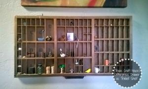 {Texas Craft House} Letterpress Drawer as Trinket Shelf
