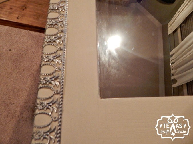 {Texas Craft House} DIY Pottery Barn Knock Off Mirror using Metal Ribbon