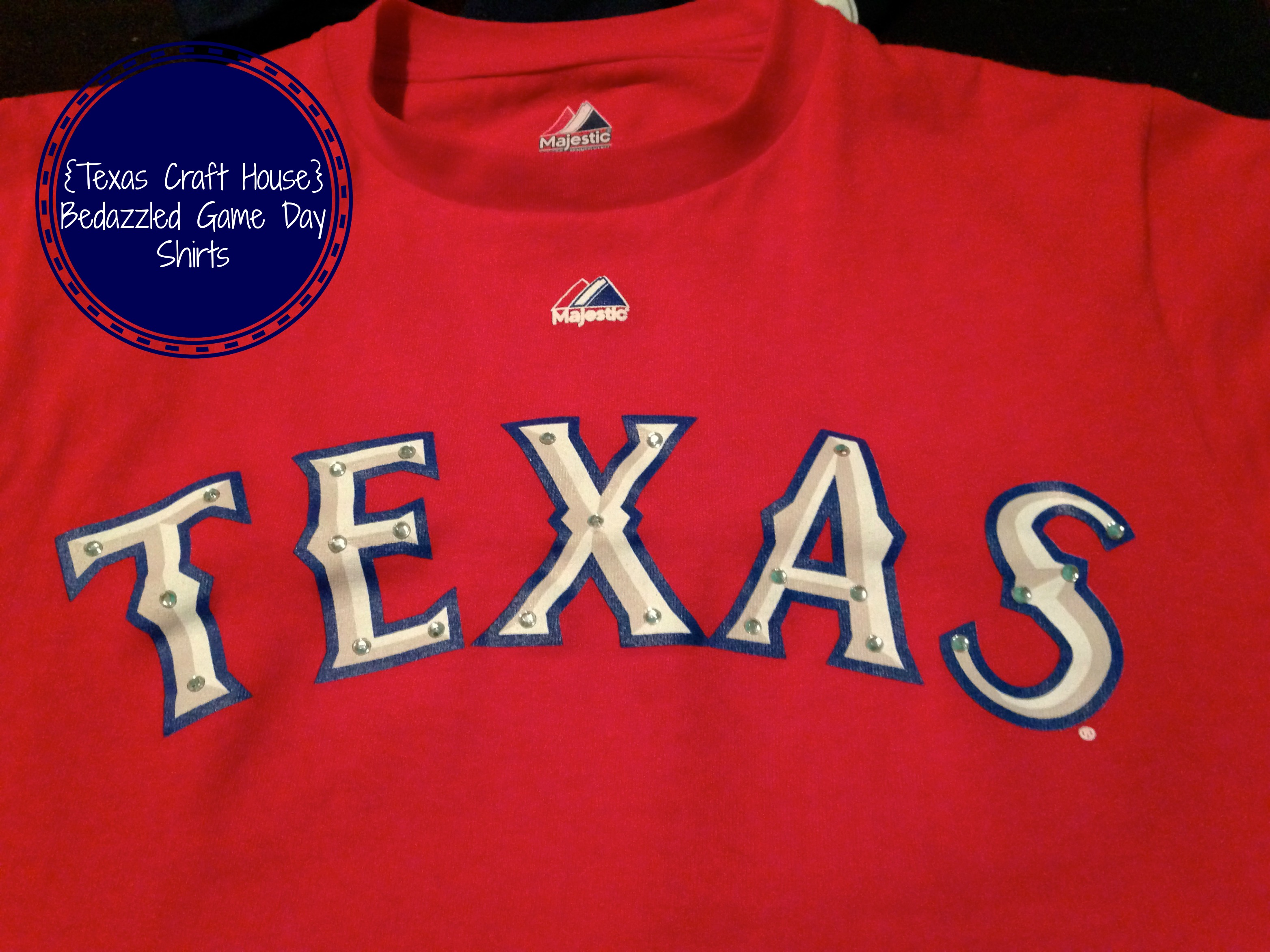 9e99d1da2c25e  Texas Craft House  How to bedazzle your game day shirt
