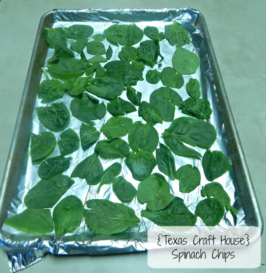{Texas Craft House} Oven Baked Spinach Chips - healthy snack or side dish... so addicting!