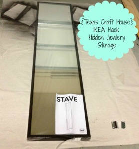 {Texas Craft House} IKEA Hack turned hidden jewelry storage