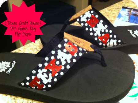 {Texas Craft House} DIY Game Day Flip Flops