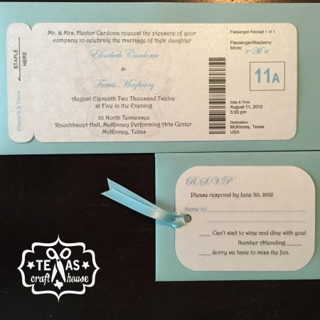 {Texas Craft House} Save Money by Making Your Own Wedding Invitations