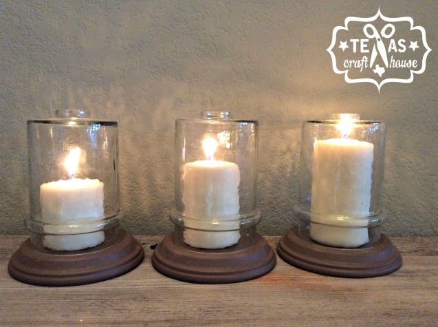 {Texas Craft House} Reuse light pendants and fixtures as candle holders