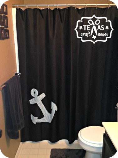 {Texas Craft House} How to Make Your Own Nautical Shower Curtain