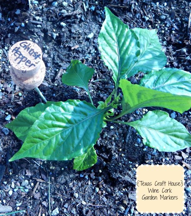 {Texas Craft House} WIne Cork Garden Marker DIY Craft