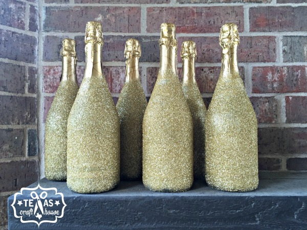 {Texas Craft House} Bachelorette Party Weekend Idea: Glitter Champagne Bottles for Floating the Guadalupe River and Two Step in Gruene Hall