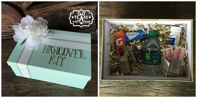 {Texas Craft House} Bachelorette Party Weekend Idea: Hangover Kit for Floating the Guadalupe River and Two Step in Gruene Hall