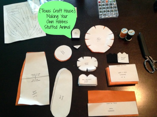 {Texas Craft House} Making Your Own Hobbes Stuffed Animal
