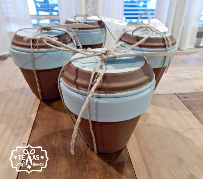 {Texas Craft House} Parent volunteer gift - painted pot with hidden message
