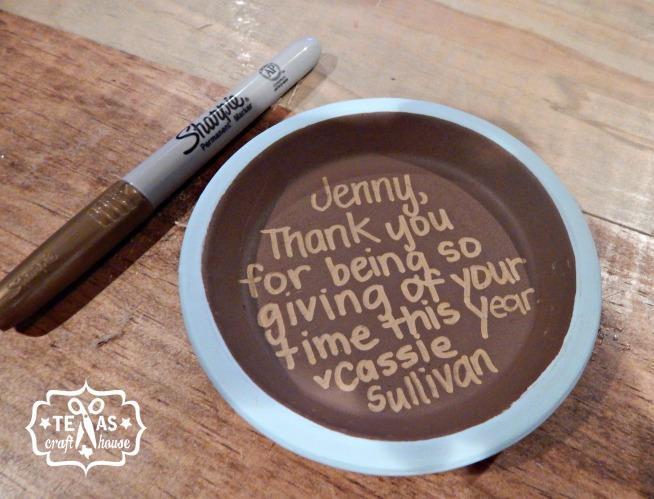 {Texas Craft House} Parent volunteer gift - painted pot with hidden message