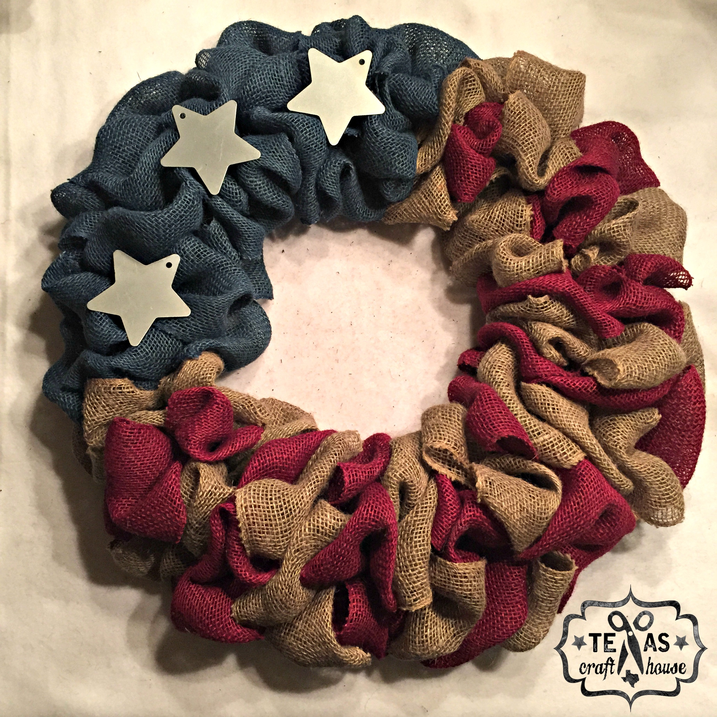 Americana wreath texas craft house for Americana crafts to make