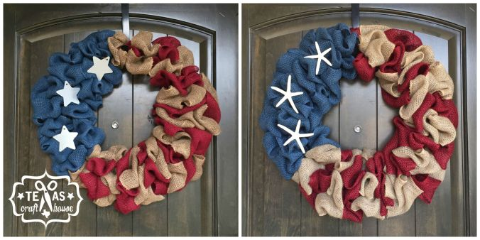 {Texas Craft House} Check out this blog for easy steps on how to make this Americana Wreath