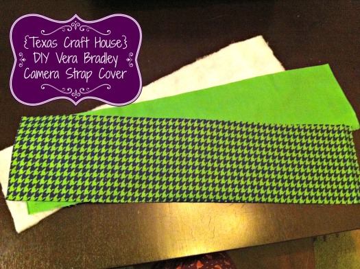 {Texas Craft House} DIY Vera Bradley Camera Strap Cover