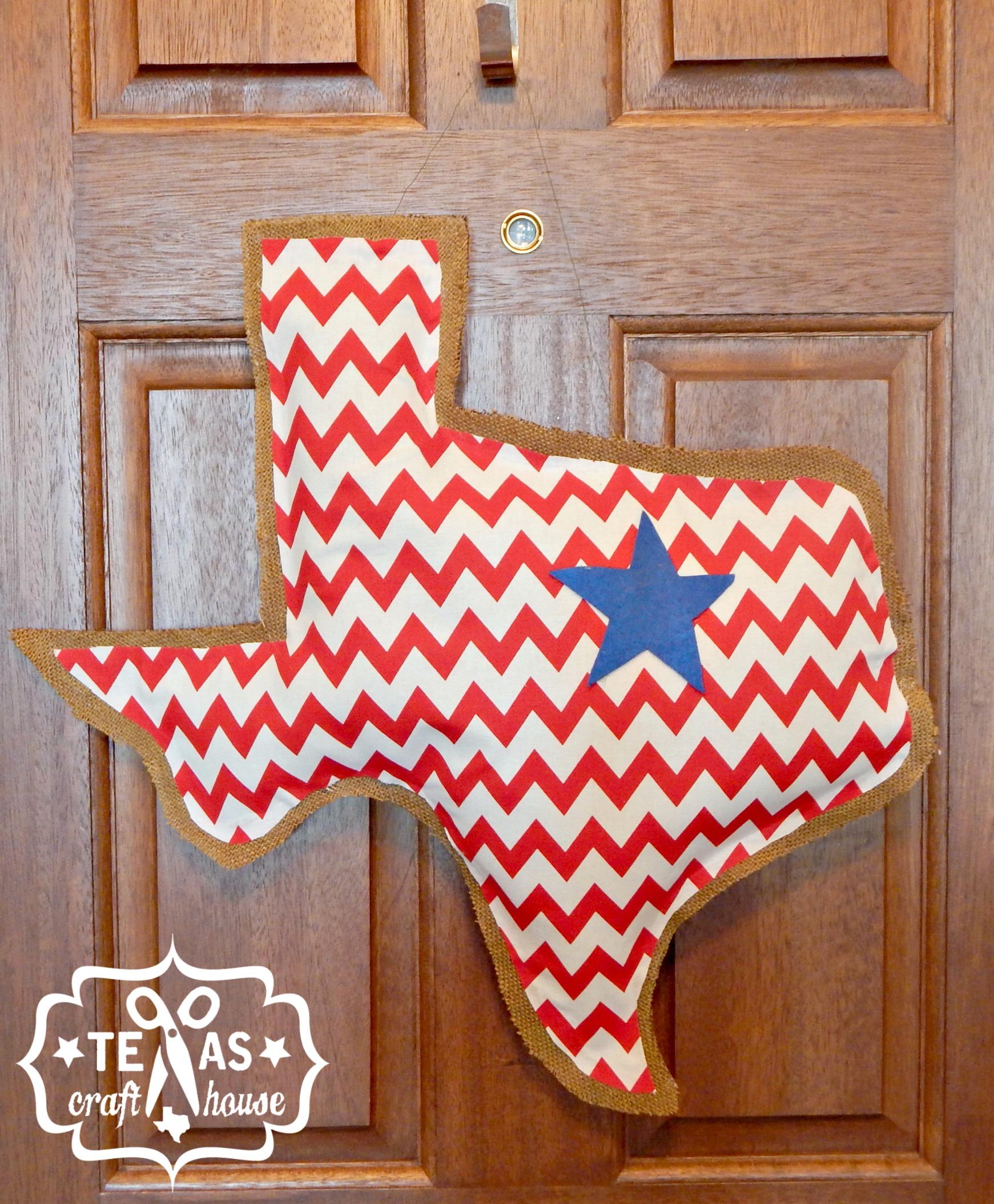 Texas Craft House Texas Burlap Door Hanger Tutorial  sc 1 st  Texas Craft House & Texas Burlap Door Hanger | Texas Craft House