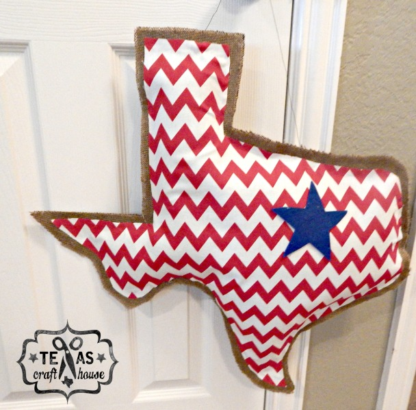 {Texas Craft House} Texas Burlap Door Hanger Tutorial