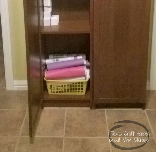 {Texas Craft House} Cricut vinyl storage organization idea