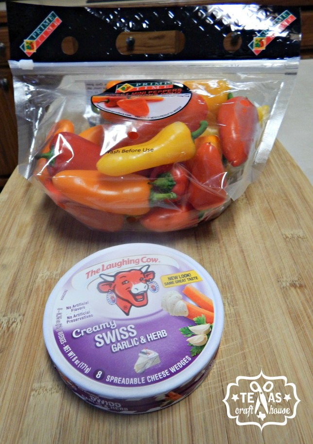 {Texas Craft House} Grilled or baked summer side dish... stuffed mini sweet bell peppers... great as an appetizer too!