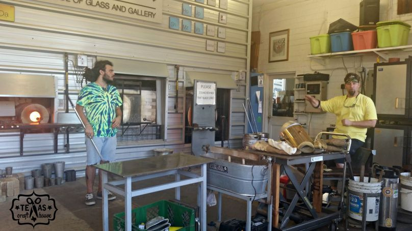 {Texas Craft House} Glass Blowing Class at Sinaca Studios
