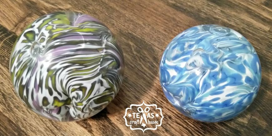 {Texas Craft House} Glass blowing paperweight at Sinaca Studios in Fort Worth Texas