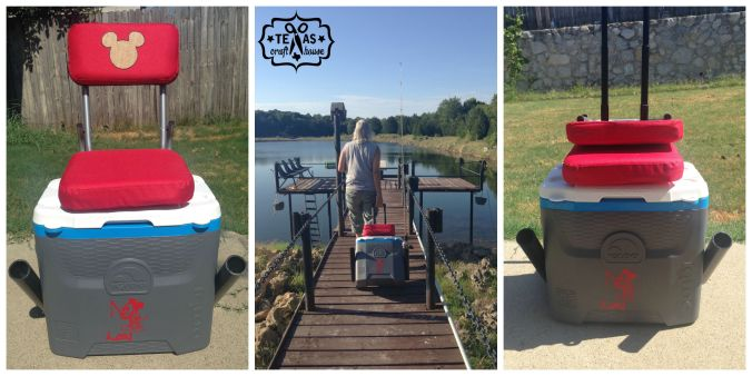 {Texas Craft House} Convenient Fishing Cooler