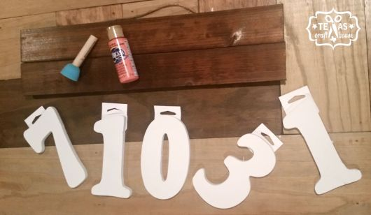{Texas Craft House} Wedding date wall sign for master bedroom
