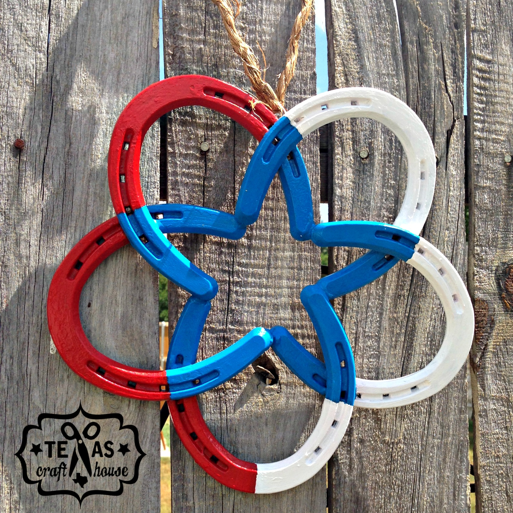 how to make a horseshoe star texas craft house