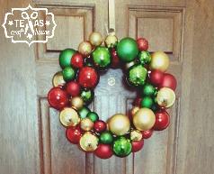 Wreath texas craft house texas craft house easy diy christmas ornament wreath no gluing involved solutioingenieria Gallery