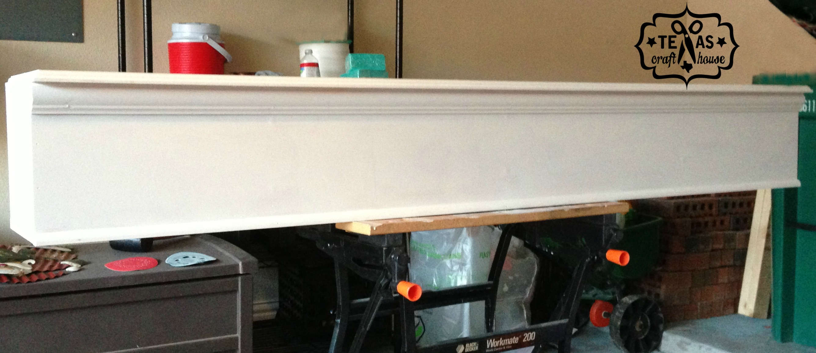 {Texas Craft House} Laundry Room Makeover: Washer & Dryer Storage How-to