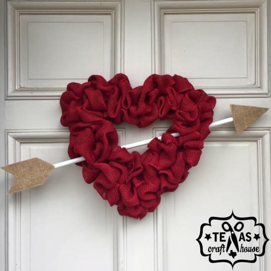 Burlap Valentine S Day Heart Wreath Texas Craft House