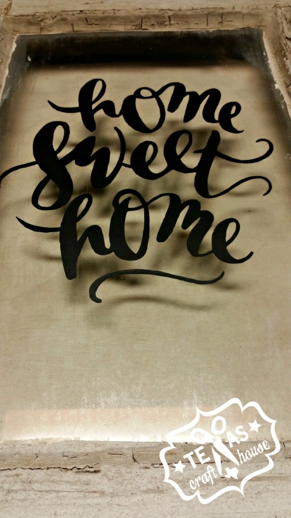 {Texas Craft House} Home Sweet Home Vinyl Window Sign