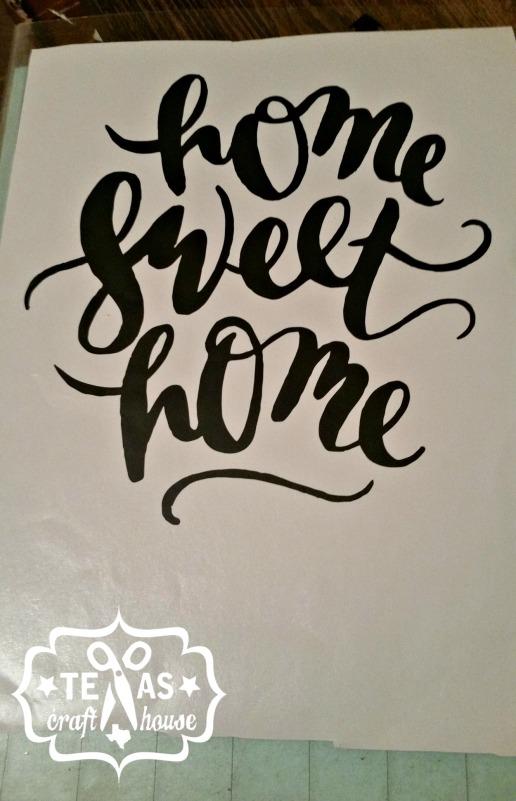 {Texas Craft House} Home Sweet Home Vinyl Window Sign