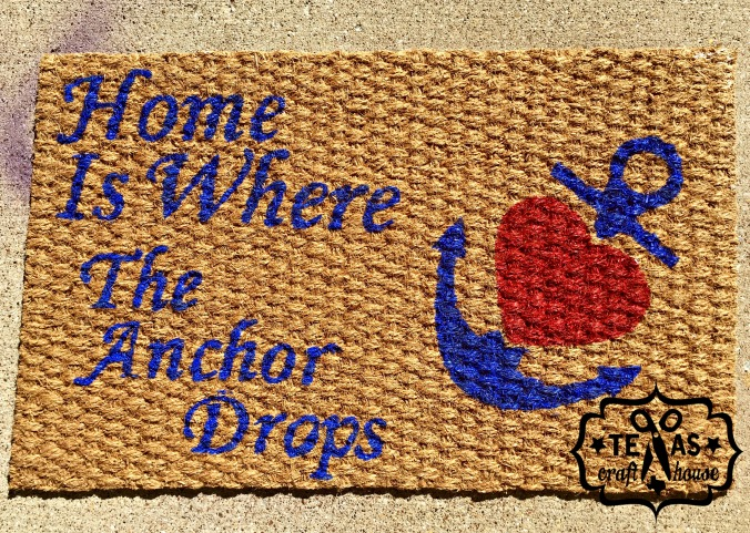 {Texas Craft House} Home is Where the Anchor Drops Mat and Wreath